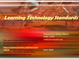 Learning Technology Standards
