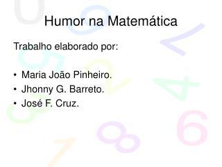 Humor na Matemática