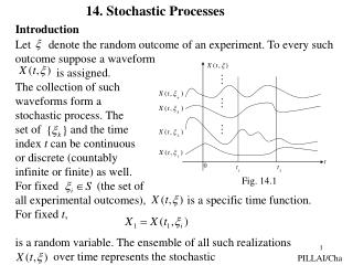 Let      denote the random outcome of an experiment. To every such  outcome suppose a waveform