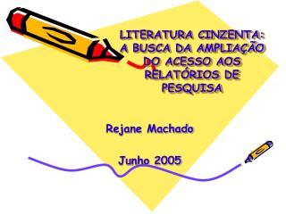 LITERATURA CINZENTA: A BUSCA DA AMPLIAÇÃO DO ACESSO AOS RELATÓRIOS DE PESQUISA