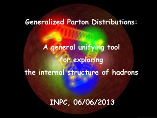 Generalized Parton Distributions: A general unifying tool for exploring