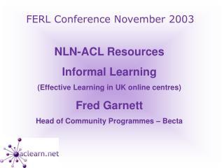 FERL Conference November 2003