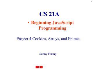 CS 21A