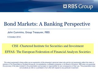 Bond Markets: A Banking Perspective