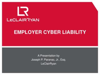 EMPLOYER CYBER LIABILITY