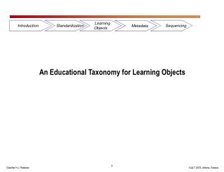 An Educational Taxonomy for Learning Objects