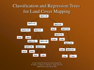 Classification and Regression Trees  for Land Cover Mapping
