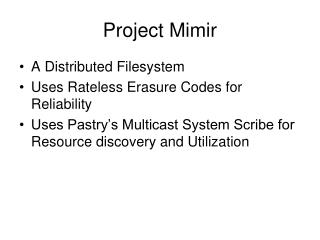 Project Mimir
