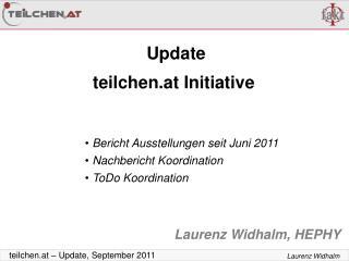 Update teilchen.at Initiative