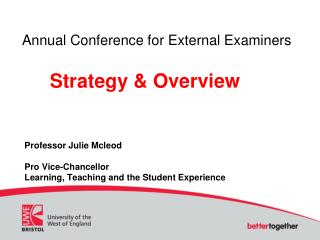 Annual Conference for External Examiners