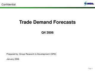 Trade Demand Forecasts Q4 2006