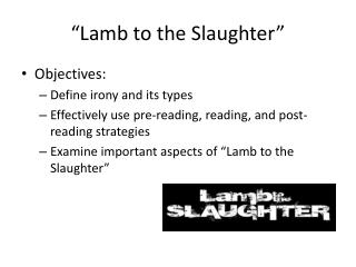 """""""Lamb to the Slaughter"""""""