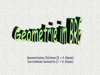 Geometrie im BRG