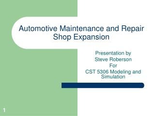 Automotive Maintenance and Repair Shop Expansion