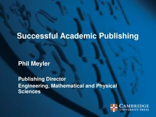 Successful Academic Publishing