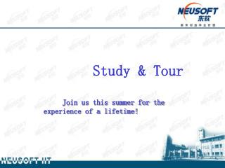 Study & Tour         Join us this summer for the experience of a lifetime!