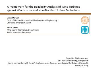 A Framework for the Reliability Analysis of Wind Turbines against Windstorms and Non-Standard Inflow Definitions