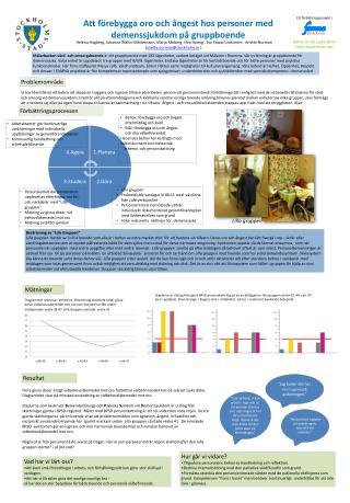 Att f�rebygga oro och �ngest hos personer med demenssjukdom p� gruppboende