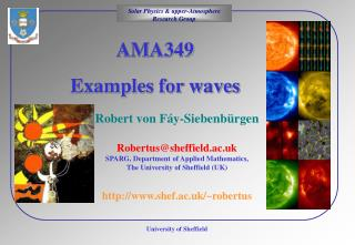 AMA349  Examples for waves