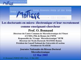 Les doctorants en micro- électronique et leur recrutement comme enseignant-chercheur