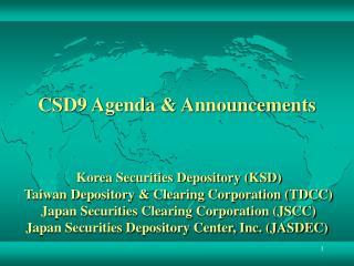CSD9 Agenda