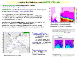 Le mod le de chimie-transport CHIMERE IPSL