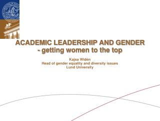 AKKA I and II,  gender integrated programs at Lund University - for women