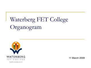 Waterberg FET College Organogram