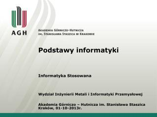 Podstawy informatyki
