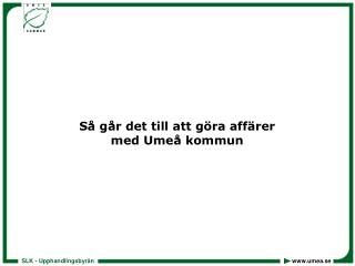 Så går det till att göra affärer med Umeå kommun