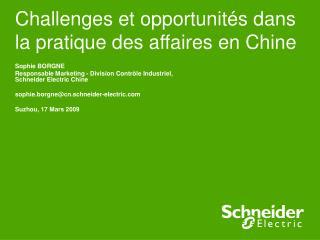 Challenges et opportunités dans la pratique des affaires en Chine