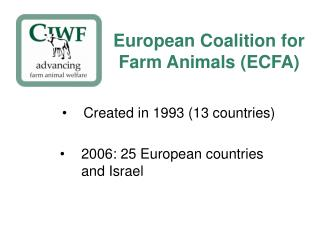 European Coalition for Farm Animals ECFA