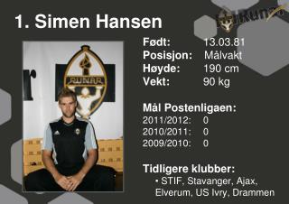 1. Simen Hansen