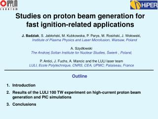 Studies on proton beam generation for fast ignition-related applications