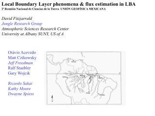 Local Boundary Layer phenomena & flux estimation in LBA