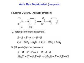 Asit- Baz Tepkimeleri ( non-protik)