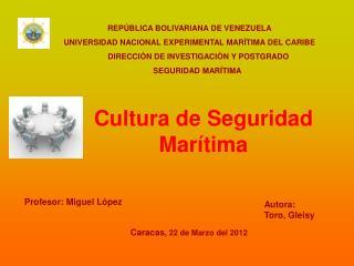Cultura de Seguridad Marítima