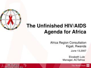 Elizabeth Lule Manager, ACTafrica