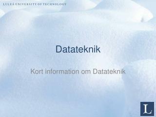 Datateknik