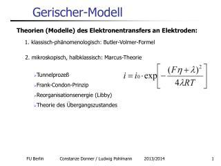 Gerischer-Modell