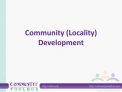 Community Locality Development