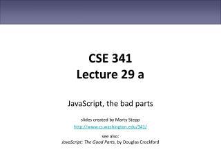 CSE 341 Lecture 29 a