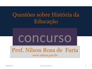 Questões sobre História da Educação