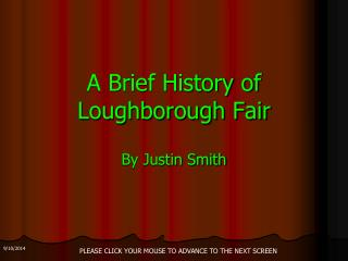 A Brief History of Loughborough Fair