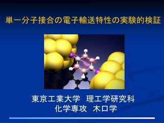 単一分子接合の電子輸送特性の実験的検証 東京工業大学 理工学研究科 化学 専攻  木口 学