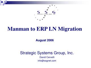 Manman to ERP LN Migration  August 2006