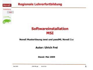 Softwareinstallation MSI