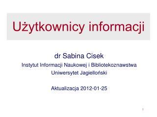 Użytkownicy informacji