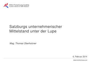 Mag. Thomas Oberholzner