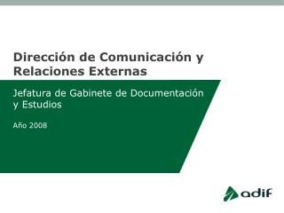 Dirección de Comunicación y Relaciones Externas